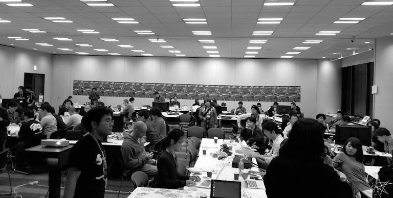 WordCamp Tokyo 2015 コントリビューターデイ(写真はぱんぶろさんから)